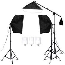 写真スタジオソフトボックス照明キット用ビデオ & youtube連続照明プロの照明セット写真スタジオ