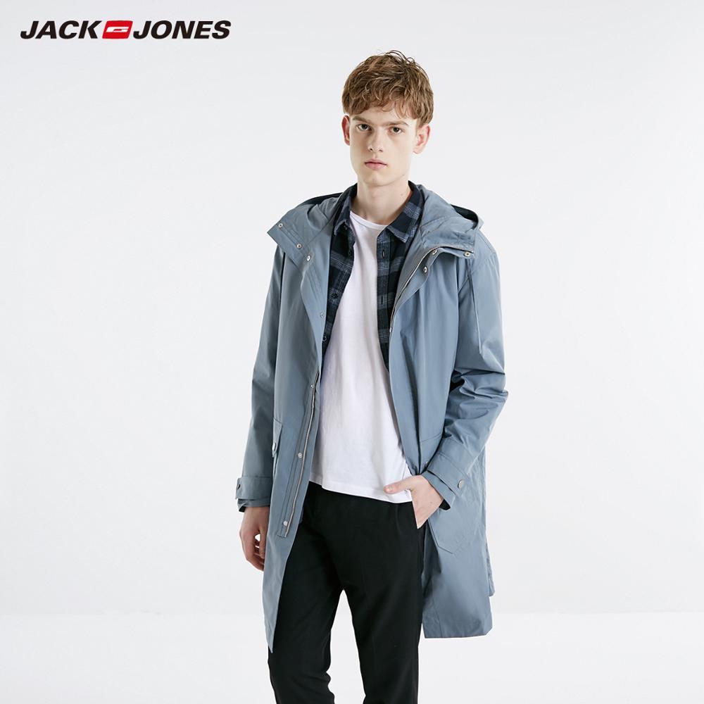JackJones Men's Spring Parka Coat Long Jacket Trench Coat Menswear Style 219109502