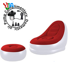 Relax Lazy inflatable sofa  with Household air Pump, Lounger Sofa for Indoor Living Room Bedroom, Outdoor Travel Camping Picnic