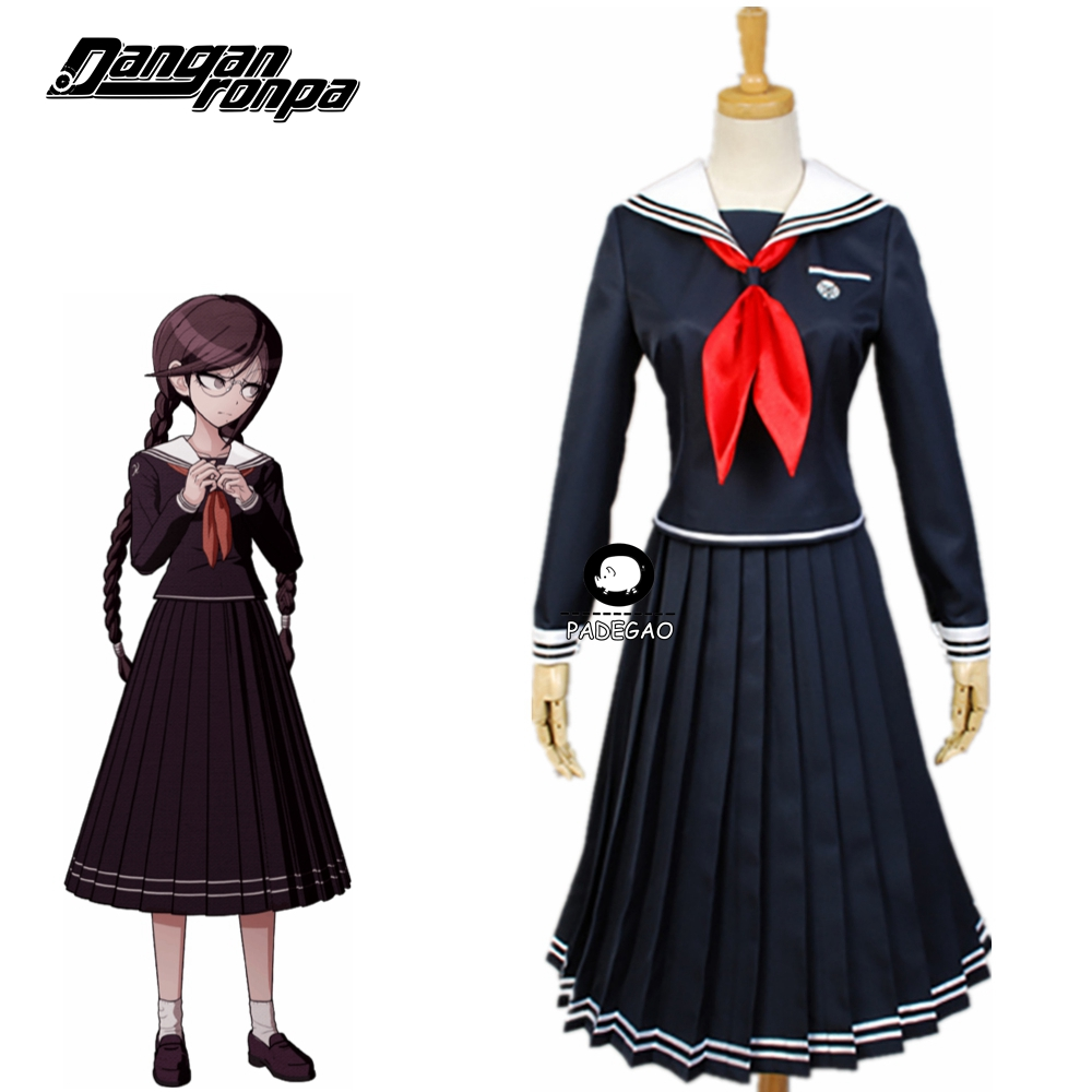 Danganronpa Dangan-Ronpa 2 Fukawa Toko Cosplay Costume School Uniform Halloween Costume