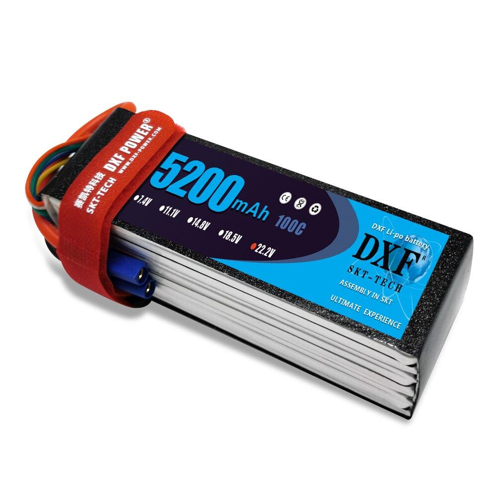 Батарея DXF Графен Lipo 6S 22,2 V 5200mAh 100C 200C для вертолета, квадрокоптера, грузовика, лодки, робота, RC игрушки, аккумулятор