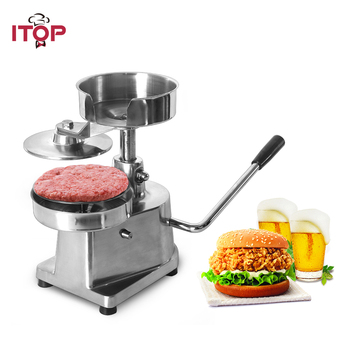 ITOP 100mm 130mm 150mm Hamburger Press Burger Forming Machine Patty Maker Manual Making
