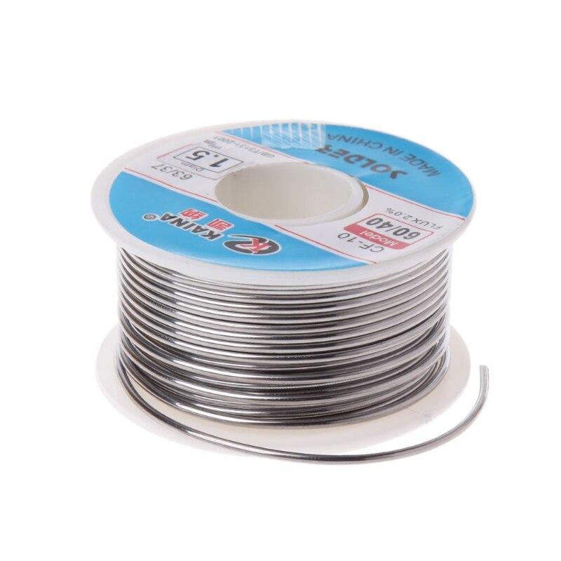 60//40 Tin//lead Rosin Core Welding Solder Wire 0.5-2mm 100g 2/% Flux Reel//Tube