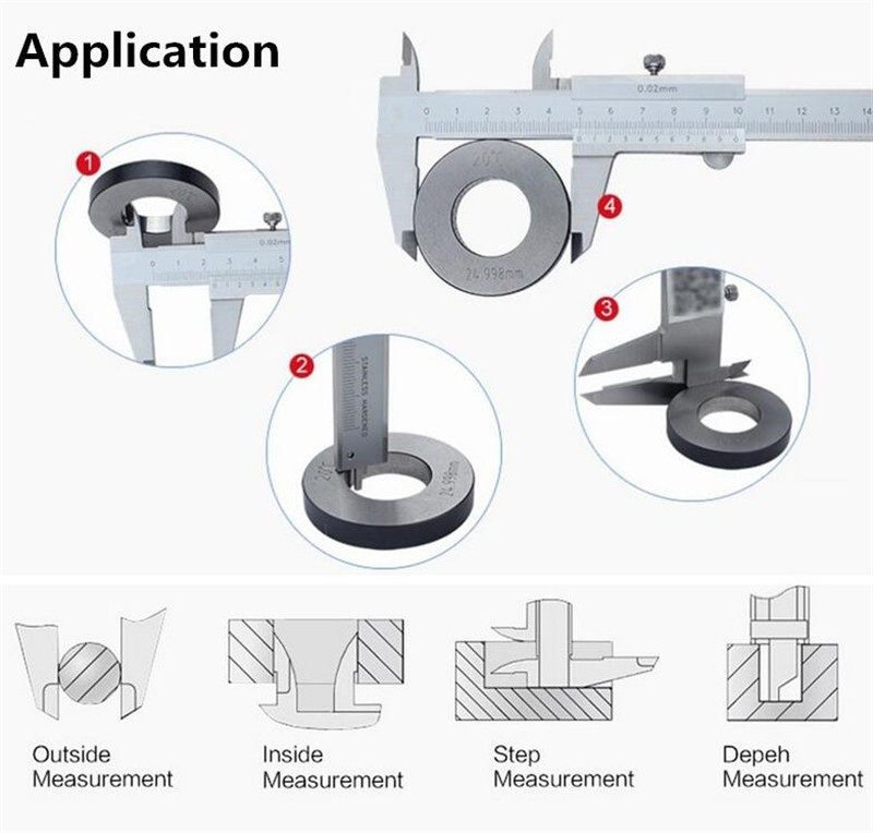 Tools : Mitutoyo CNC 530-118 Vernier Calipers Stainless Steel Inside Outside Depth Step Measurements Metric 8inch 0mm-200mm Range