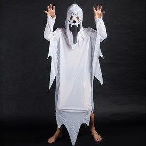 Image 3 - Disfraces de fiesta de Halloween de umarden, disfraz de fantasma blanco escalofriante a juego para Familia, traje de Cosplay para niños y adultos