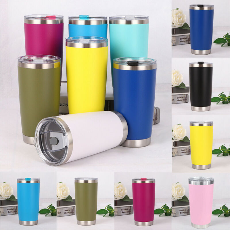 1pc <font><b>20oz</b></font> Solid Portable Stainless Steel Vacuum Tumbler Insulated Travel Coffee <font><b>Mug</b></font> Cup Flask image