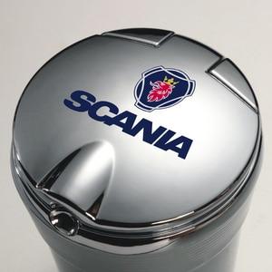 Портативный светодиодный светильник автомобильная пепельница Универсальный сигареты держатель цилиндра для грузовика Scania K250 K280 K310 K320 K490 Серия G P S SerieX Turbo
