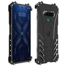 אלומיניום סגסוגת מתכת טלפון מקרה עבור Xiaomi שחור כריש 4 פרו הגנה עמיד הלם כיסוי עם Kickstand מחזיק