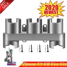 De almacenamiento soporte vacío absoluto piezas de limpiador accesorios herramienta pincel Base con boquilla para Dyson V7 V8 V10 V11