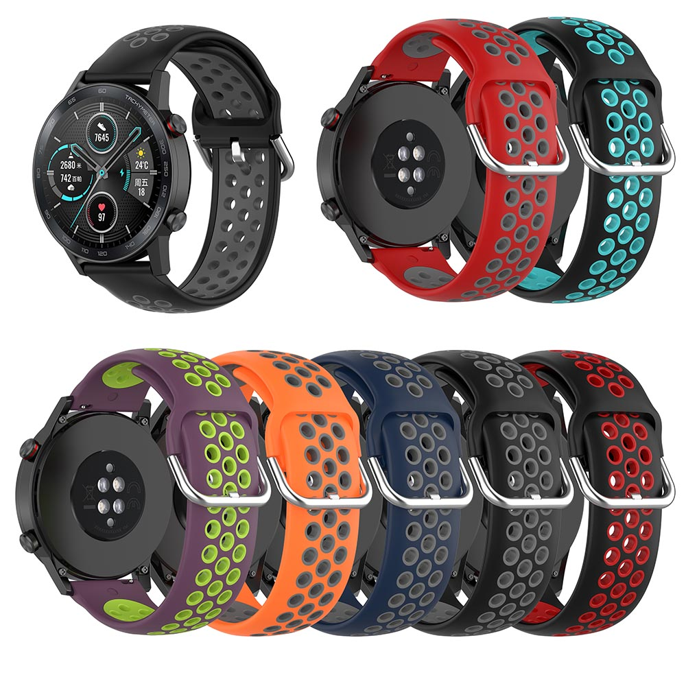 22mm Silicone Strap For Honor Watch Magic Watch 2 46mm Straps For Huawei Watch Gt2 46mm Band For Huawei Watch GT 46mm 42mm Bands
