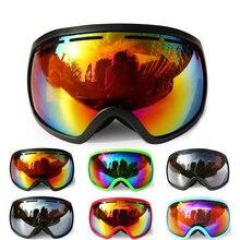 Лыжные очки с двойными слоями UV400, защита линз, противотуманные очки для сноуборда, лыжные очки для мужчин и женщин, противотуманная маска, очки