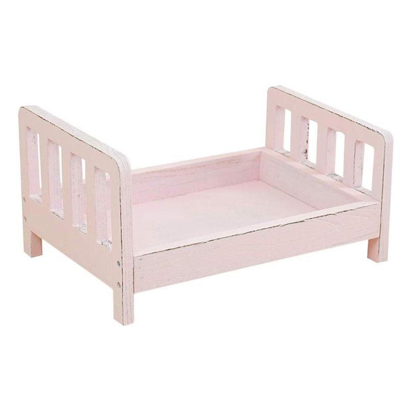 Newborn Photography Props Wood Bed Infant Poses Detachable Background Props X5XE