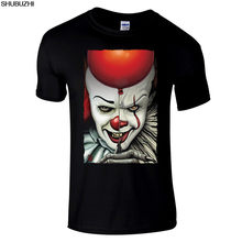 Pennywise Premium negro regular fit horror camiseta por William Anderson Cartoon camiseta hombres Unisex nueva camiseta shubuzhi sbz4509(China)