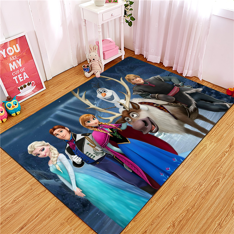 Frozen  Door Mat Waterproof Cartoon Anna Elsa Mat Cute Kitchen Rugs Bedroom Carpets Decorative Stair Mats Home Decor Crafts