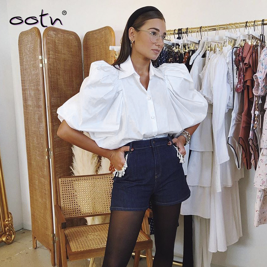 White Spring Summer Half Sleeve Blouse Woman Office Shirt Female 2020 Fashion Women Blouse And Tops Button Down Elegant Top