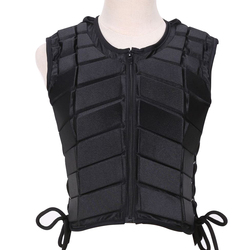 Unisex Outdoor EVA Padded Vest Children Eventer Damping Safety Horse Riding Armor Equestrian Accessory Body Protective Sports