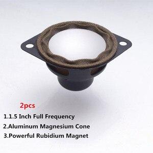 2 шт., 1,5-дюймовый Полнодиапазонный динамик 8 Ом, динамик 80 Вт, аудио, автомобильный звук, громкий динамик, алюминиевый магниевый конус, мощный ...