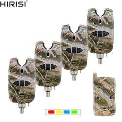 Karpfen Angeln Biss Alarm Set Wasserdicht 1 + 4 Camouflage Farbe Drahtlose Fischerei Alarm B1208