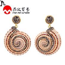 2020 Fashion Natural Conch Shell Dangle Drop Earrings For Women Jewelry Bohemian Irregular Summer Pendant
