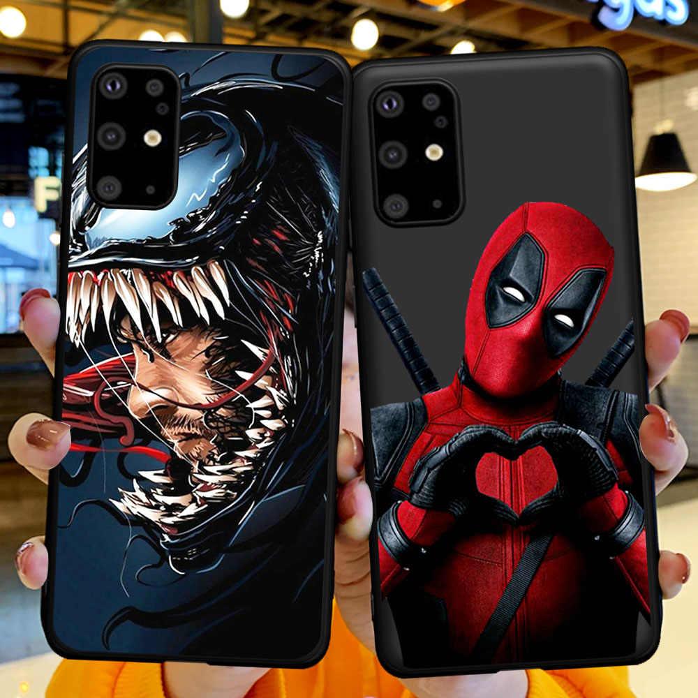 Venom joker para samsung s6, s7 s8 s9 s10 s11 s11e plus note 8 9 10 plus m10 20 30 40 capa de silicone tpu macio