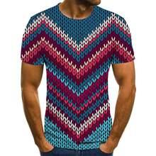 2020 yeni erkek moda boyutlu bask rahat ksa kollu vertigo 3D vertigo T-shirt erkekler ve kadnlar iin 3D bask T-shirt
