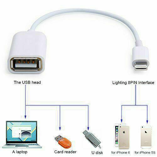 For Apple Interface Male To USB Female OTG Adapter Cable For Apple IPhone 5 5s 6 6s Plus 7