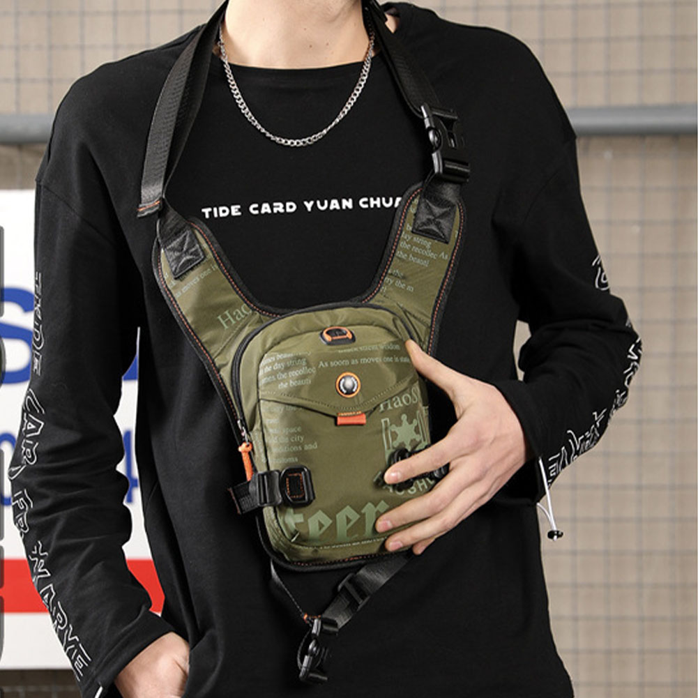 Thigh Men Shoulder Bag Portable Waterproof Waist Adjustable Strap Riding Multifunctional Chest Pack Outdoor Nylon Sports Casual