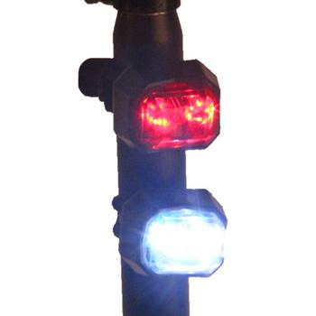 Rowerowe akcesoria oświetleniowe Led światło rowerowe 2 lasery nocne tylne światła rowerowe Taillights MTB ostrzeżenie bezpieczeństwa światło rowerowe tanie i dobre opinie Bicycle Led Light Accessories Bike Light Sztyca Baterii