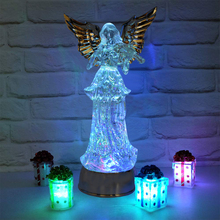 Boaz LED Christmas Series Angel Night Light Acrylic Flashing Ambient For Home Party Wedding Decoration angel light Lamps