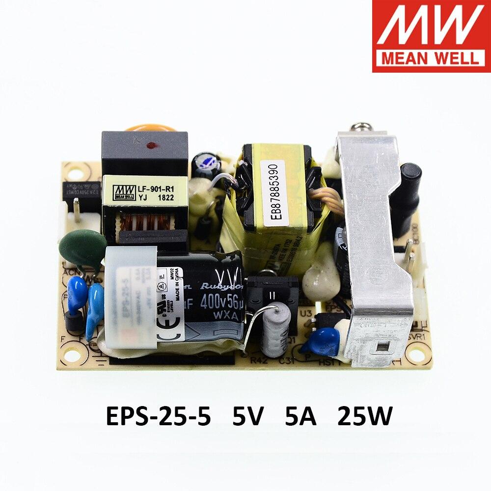 MeanWell Open Frame Alimentatore AC//DC 25w 7,5v 3,4a eps-25-7.5