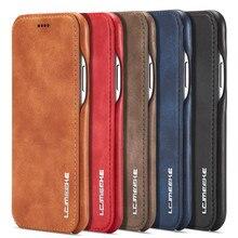 Premium carteira caso de telefone para o iphone se2 xr x xs titular do cartão flip capa de couro para o iphone 11 12 pro max 7 8 6s 6 plus 12 mini