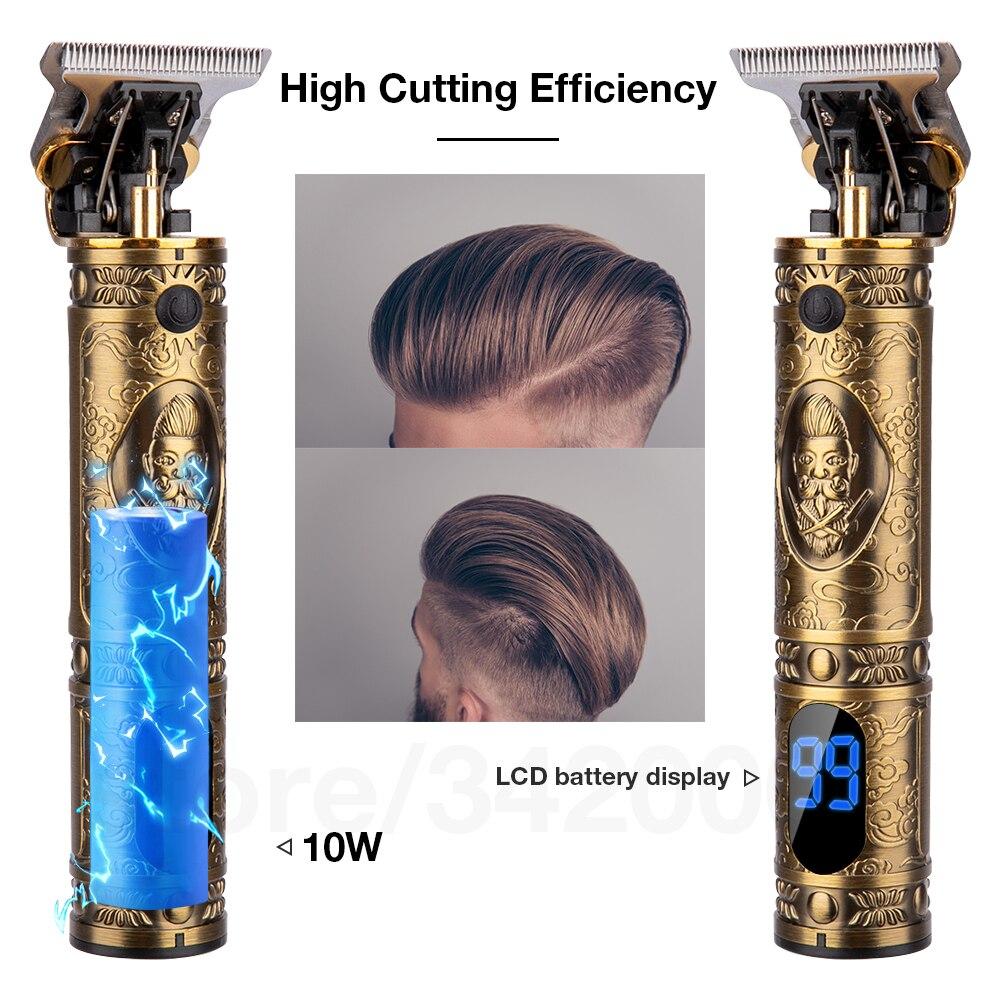 2021 Electric Hair Clipper Hair Trimmer For Men Rechargeable Electric Shaver Beard Barber Hair Cutting Machine For Men Hair Cut 4