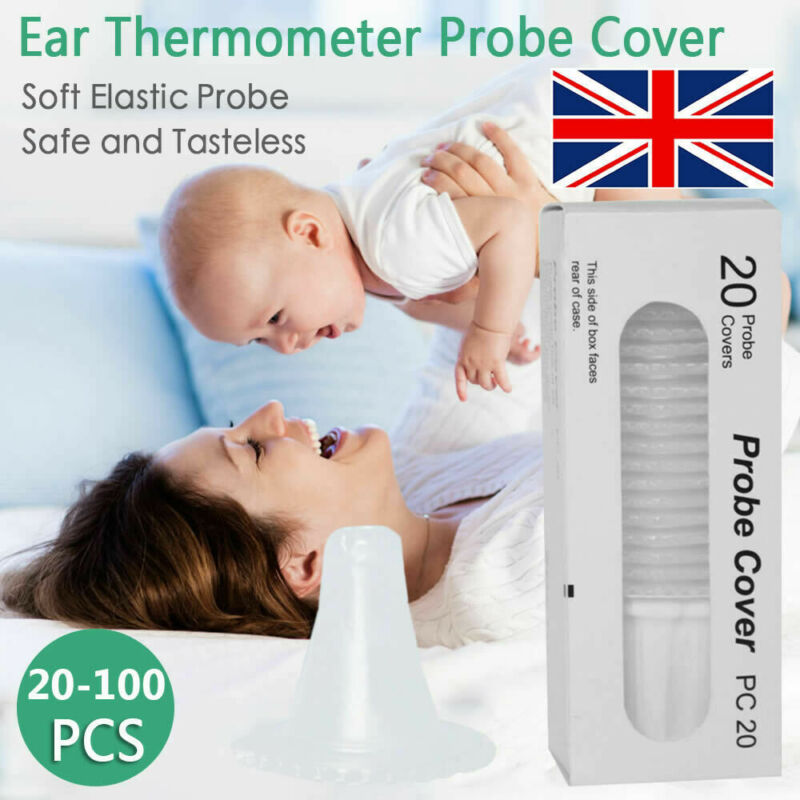 20 Pcs Braun Probe Covers Thermoscan Replacement Lens Ear Thermometer Filter Cap Braun Thermoscan Use
