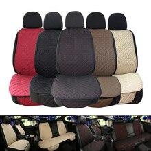 גדול גודל פשתן מושב המכונית כיסוי מגן פשתן קדמי או אחורי מושב אחורי כרית כרית מחצלת משענת עבור אוטומטי פנים משאית Suv ואן