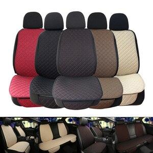 Image 1 - גדול גודל פשתן מושב המכונית כיסוי מגן פשתן קדמי או אחורי מושב אחורי כרית כרית מחצלת משענת עבור אוטומטי פנים משאית Suv ואן