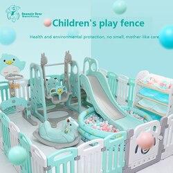 Jeu de diapositives pour enfants playen intérieur ménage petite balançoire paradis bébé aire de jeux clôture combinaison équipement famille jouets