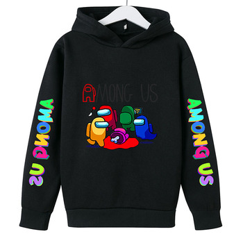 New 4 To 14 Yrs Game Among US Boys Girls Hoodies For Teens Cotton Impostor Graphic Funny Spring Autumn Clothes Sudadera 3