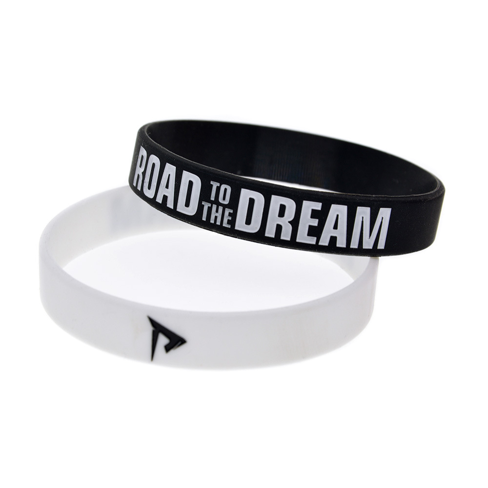 """""""Road To The Dream"""" Soft Silicone Motivational Bracelet Inspirational With Trendy Sports Bracelet for Women Accessories"""