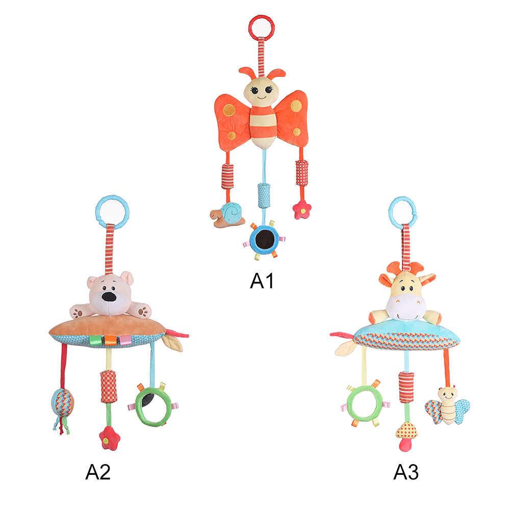 ทารกแรกเกิดรถเข็นเด็กทารกแขวนของเล่นน่ารักตุ๊กตาสัตว์ตุ๊กตา Plush ของเล่น Rattle