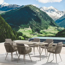 Сад открытый балкон мраморный обеденный стол набор обеденный стол стулья мебель