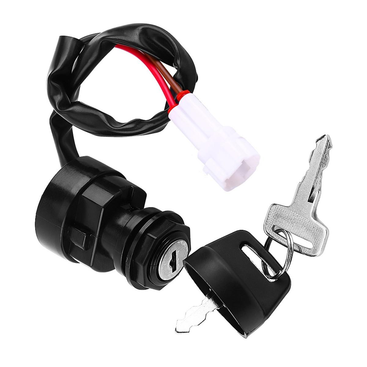 Universal 2 Ignition Keys Start Switch Door Lock Key Motorcycle Accessory For Yamaha YFM 350 Bruin 660R 700R Raptor 350X Warrior