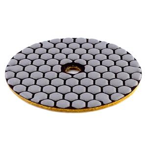 Image 5 - Rijilei 6 pçs 4 Polegada almofada de polimento a seco resina flexível 100mm almofadas de polimento diamante para piso concreto mármore moagem disco