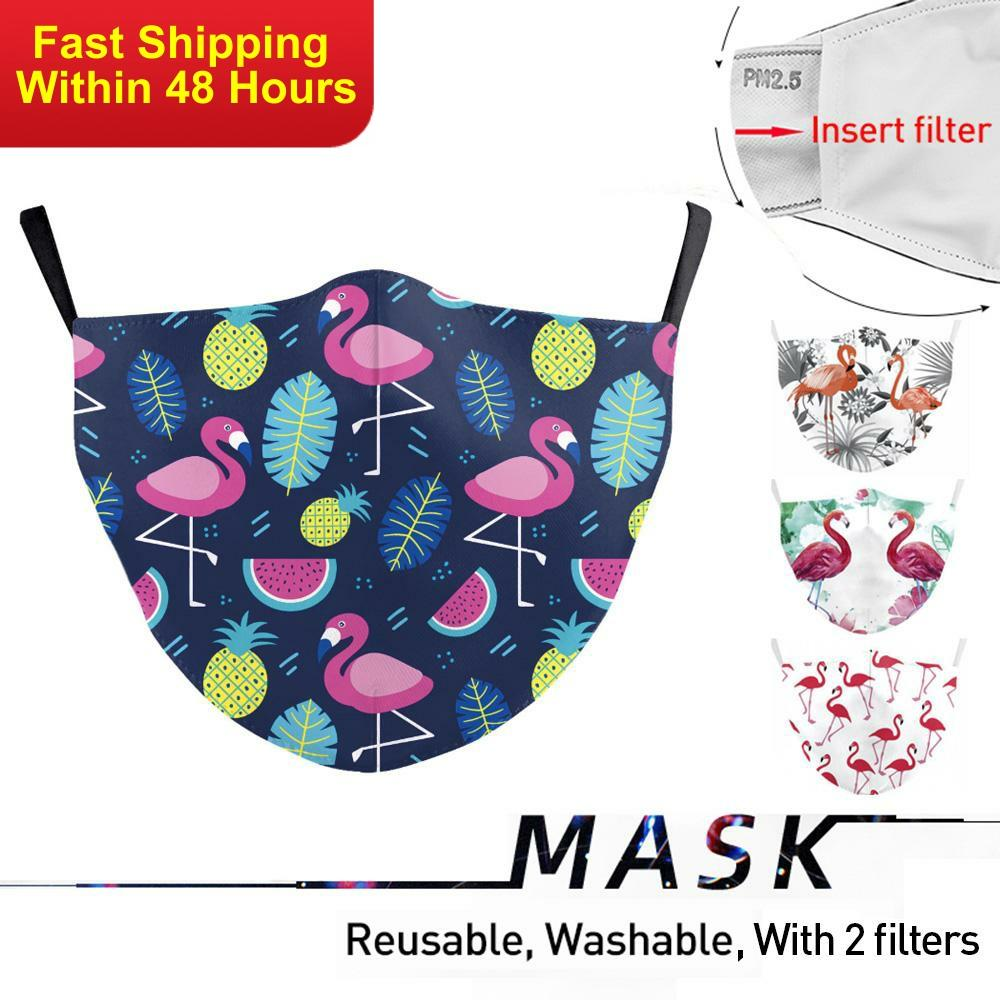 Zawaland Adult Crane Printed Face Masks Dust-proof Mask Cover Anti-Dust Face Mouth Reusable Washable Fabric Masks