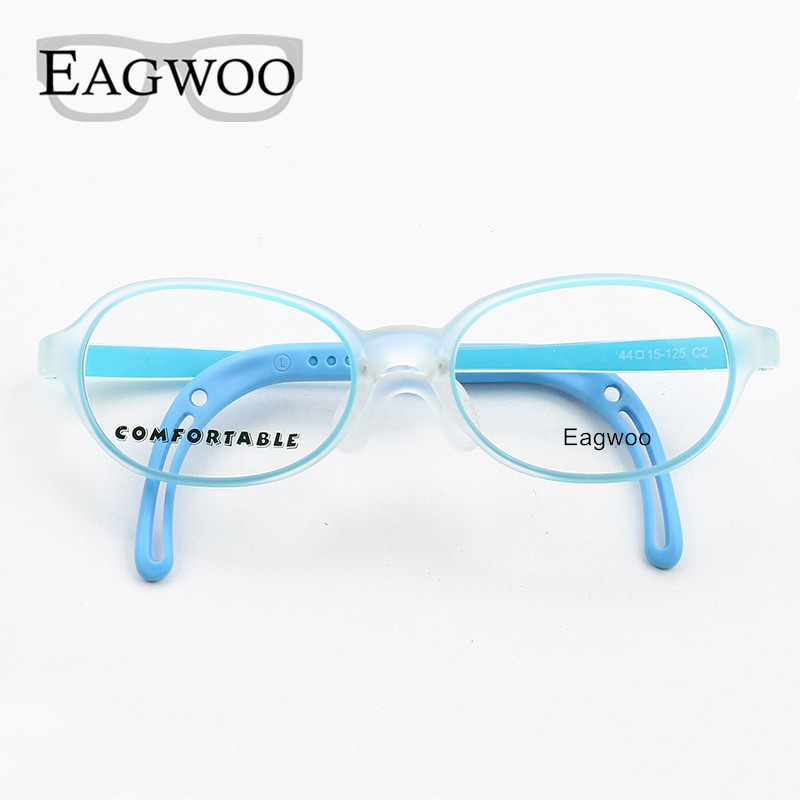 Image 4 - Eagwoo Silicon Soft Eyeglasses Children Optical Frame Little Boy Girl Glasses Temple with Adjustable String GreenMens Eyewear Frames   -