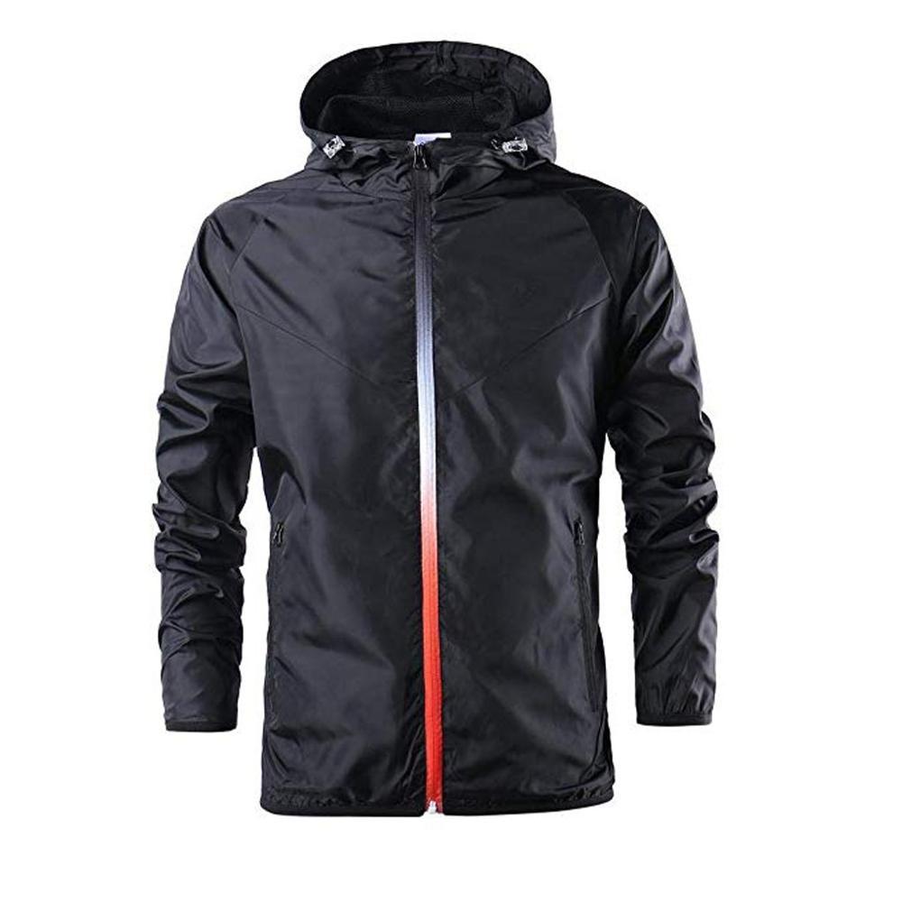 Heren Herfst Winter Casual Mode Waterdichte Bovenkleding Windjack Sport Outdoor Hooded Blouse Top Coat Jassen #5R08-in Wandeljassen van sport & Entertainment op title=