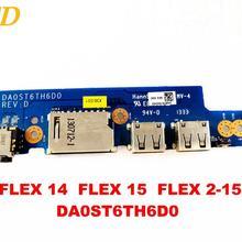 Для lenovo FLEX 14 FLEX 15 звуковая плата USB плата FLEX 2-15 DA0ST6TH6D0 протестирована хорошая