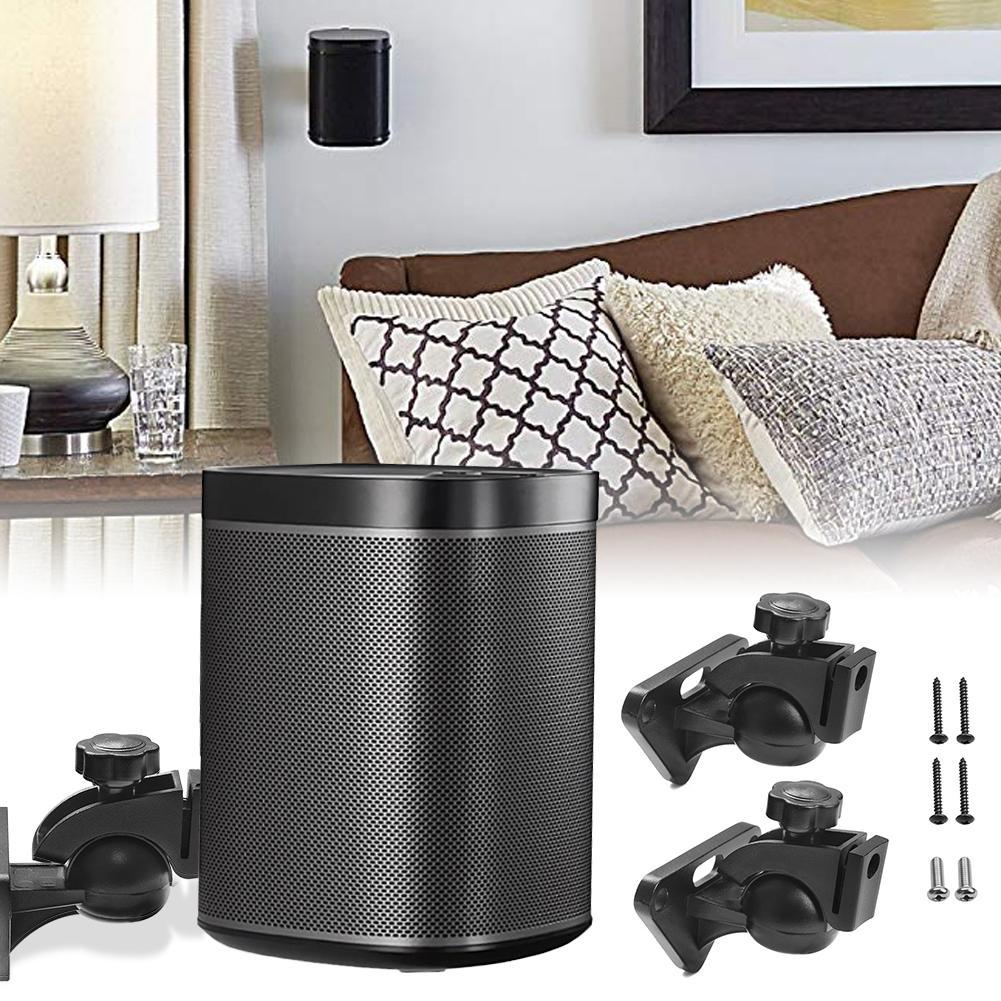 1 Pair Wireless Intelligent Speaker Wall Mount Rack Speaker Hanging Bracket Ceiling Stand For SONOS PLAY 1