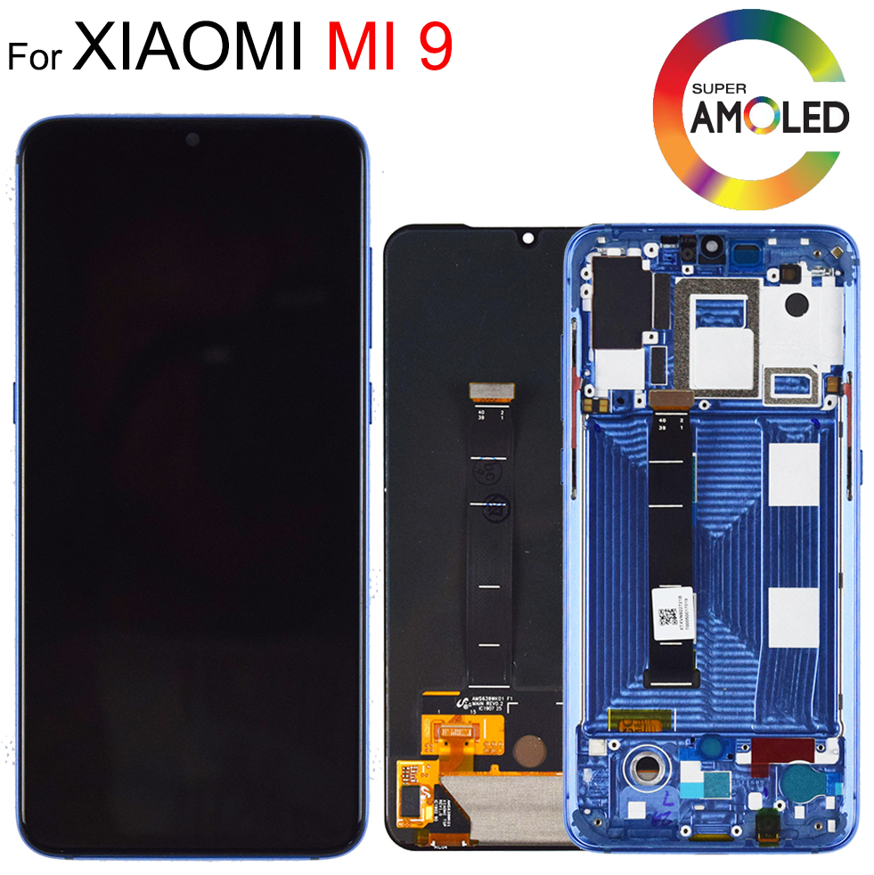 6.39'' AMOLED Original LCD For <font><b>xiaomi</b></font> Mi 9 <font><b>Mi9</b></font> <font><b>Display</b></font> for <font><b>xiaomi</b></font> 9 LCD <font><b>Display</b></font> Touch ScreenDigitizer Assembly with frame image