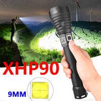 Hellsten XHP90 LED lange-palette taschenlampe XHP70.2 leistungsstarke Wasserdichte LED taschenlampe verwenden 18650 batterie USB Aufladbare für camping