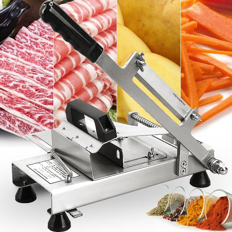 304 stainless steel automatic push mutton roll potato slicer household beef meat slicer medicinal herbs gelatin slicer slicer 5